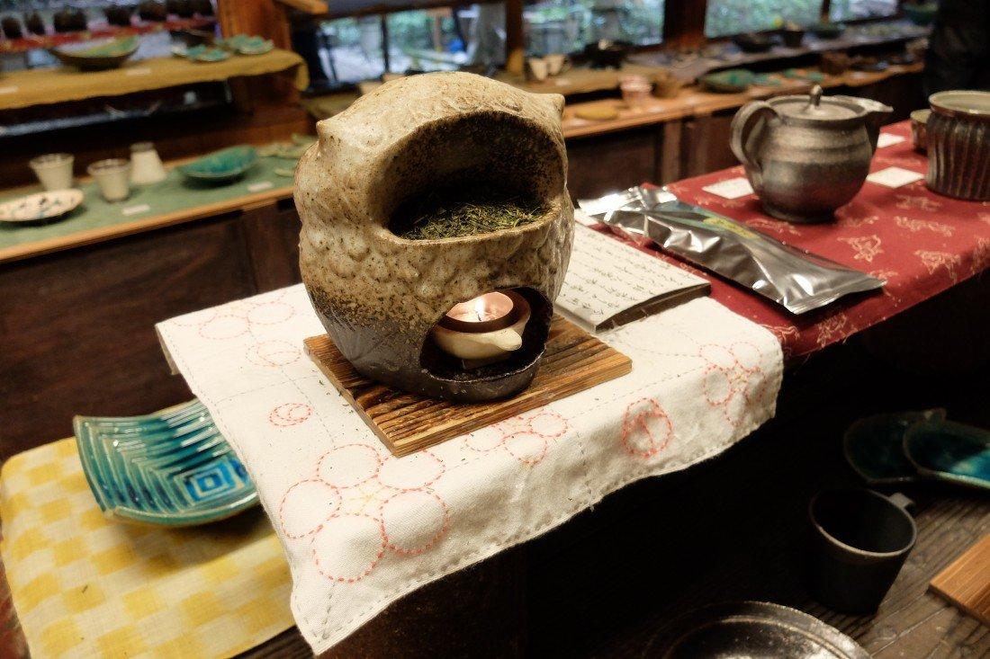 Steaming tea in Kyoto