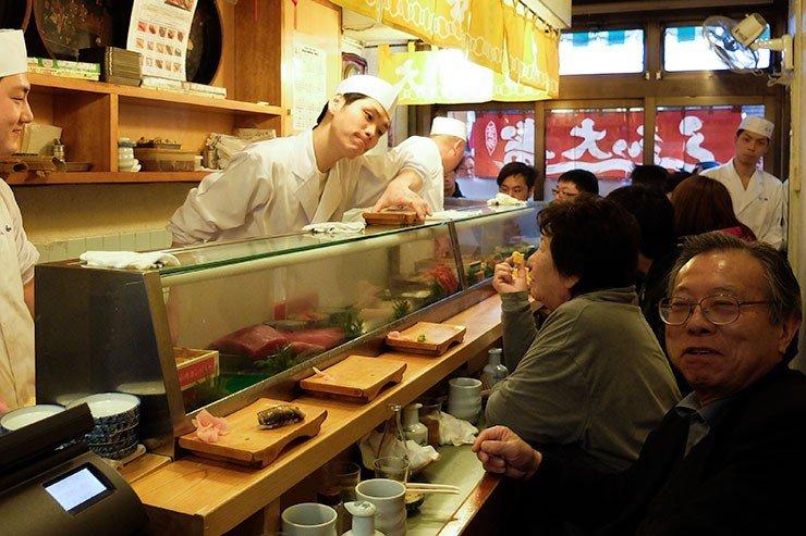 Daiwa Sushi, Tsukiji