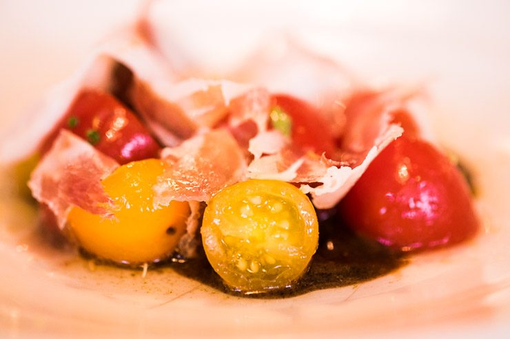 Tomatoes, Lardo & Fried Bread, Andre Chiang at Lyle's