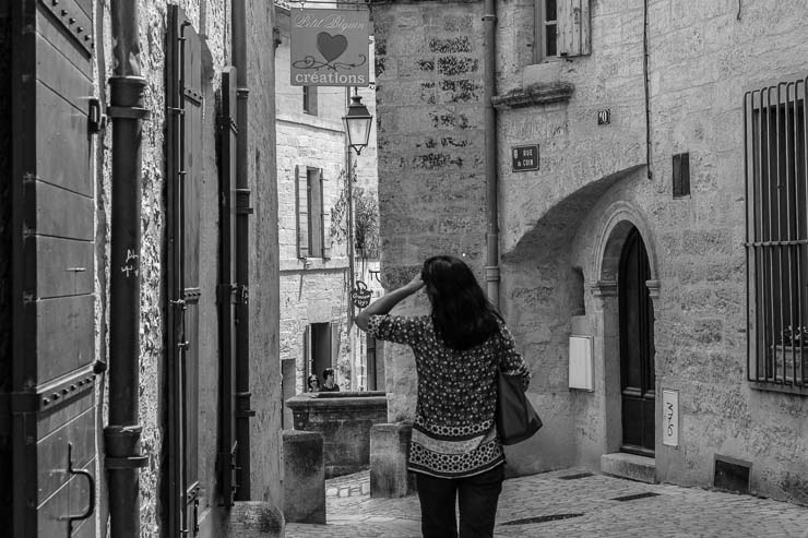 cobbled streets, Uzes, Gard, France