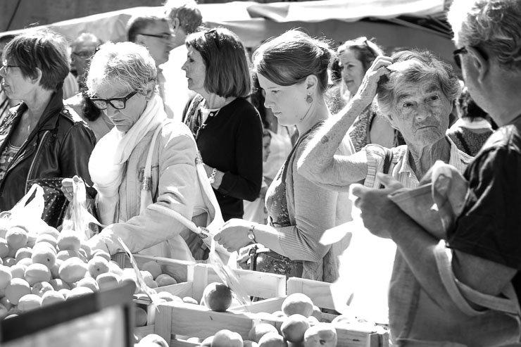 Market, Uzes, Gard, France