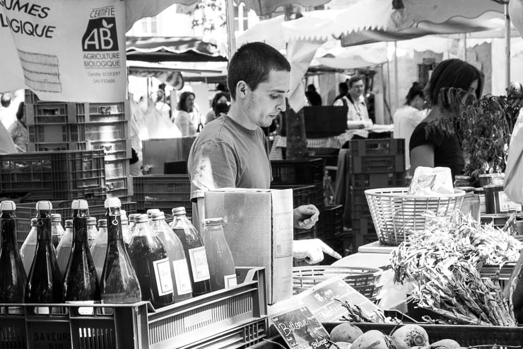 Organic, market, Uzes, Gard, France