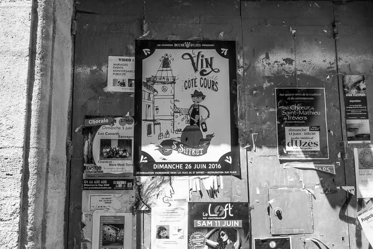 Poster, Uzes, Gard, France