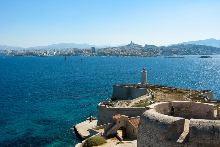 View of Marseille from Chateau d'If 2005