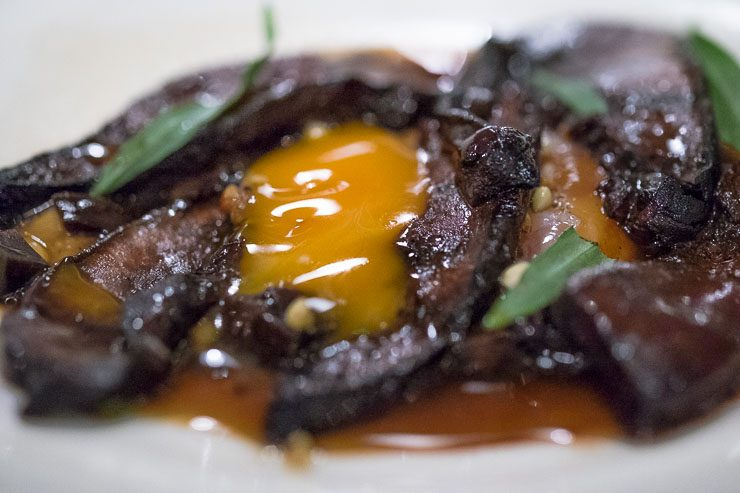 Beefsteak mushrooms & Cotswold white egg, Lyle's