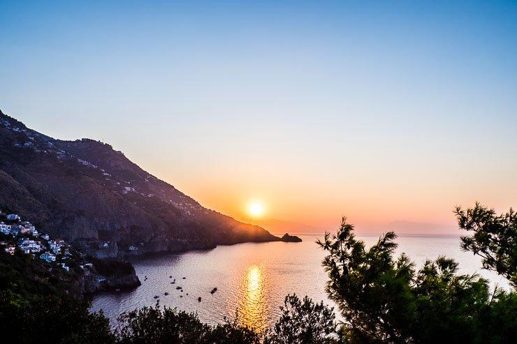 Summer sunrise, Praiano, Amalfi