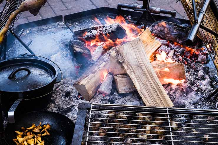Wood fire BBQ at Sager & Wilde