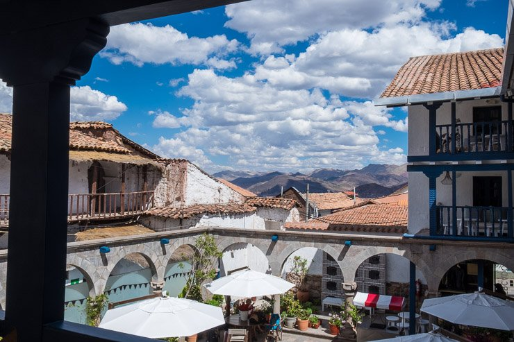 View from first floor of Hotel Mercado, Cusco, Peru