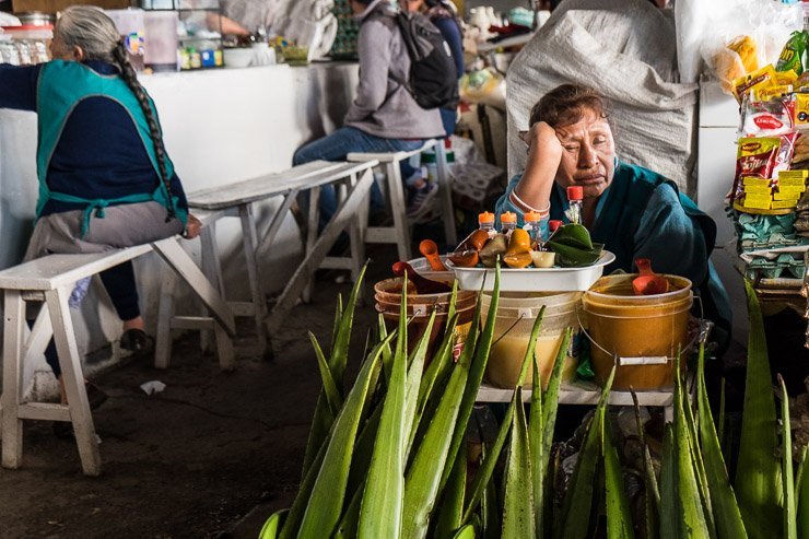 Herbalist, San Pedro market, Cusco, Peru