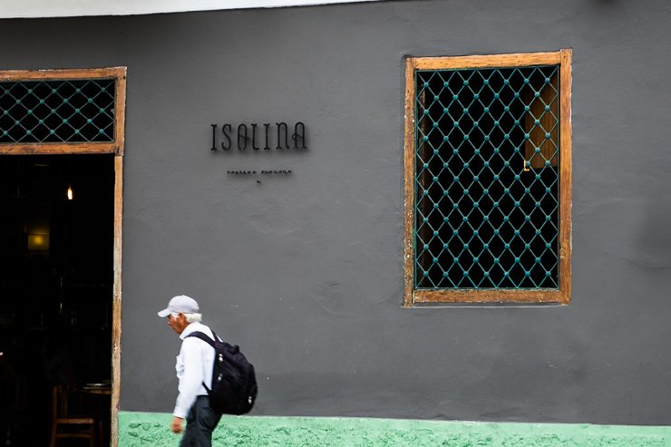 Entrance to Isolina Taberna in the Barranco district of Lima