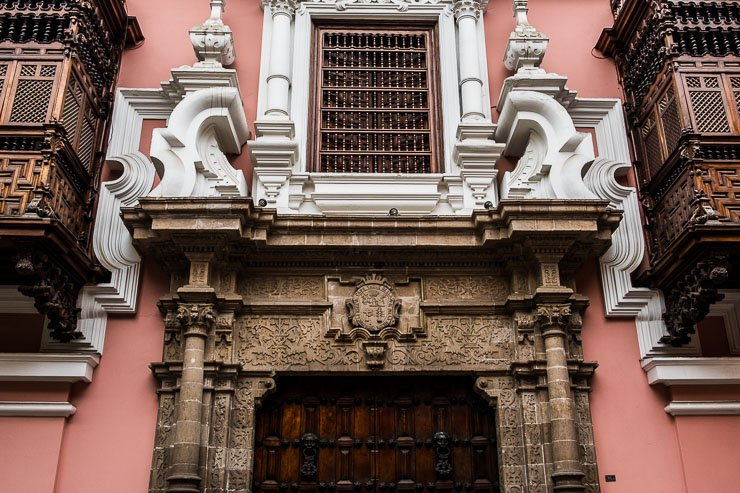 Entrance to Torre Tagle Palace, Lima, now home to the Ministry of Foreign Affairs