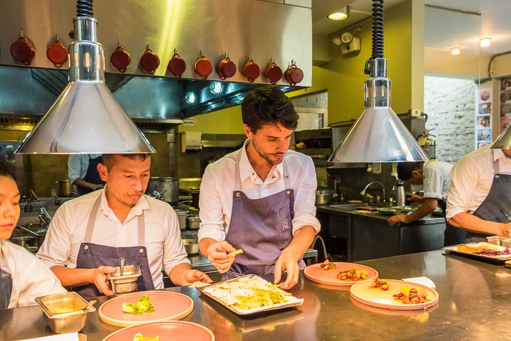 Virgilio Martinez in the kitchen, Central Restaurant, Lima
