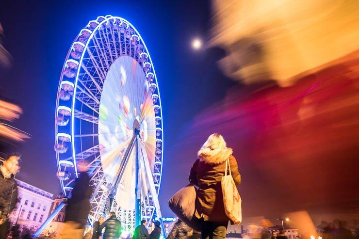 Ferris wheel in Place Bellecour, Festival of Lights, Lyon