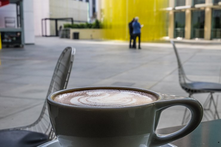 Stopping for a hot chocolate espresso