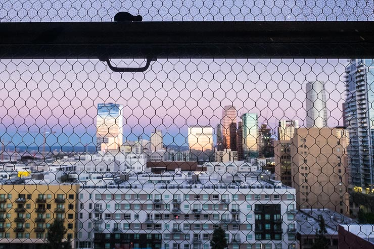 Sunrise view from ACE hotel, Los Angeles