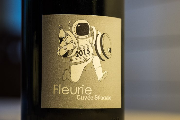 Label of Cuvee Spatiale with picture of astronaut