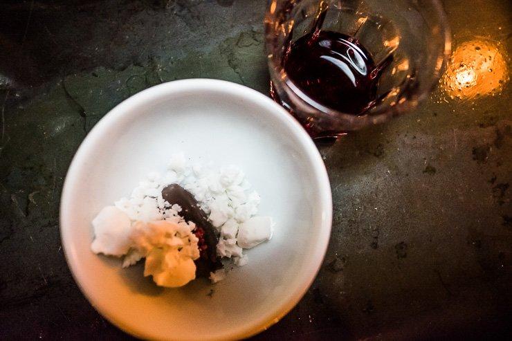 Cacao Ganache with Frozen Buttermilk. Taller at Carousel