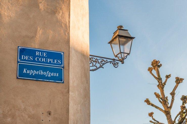 Strasbourg Rue des Couples sign