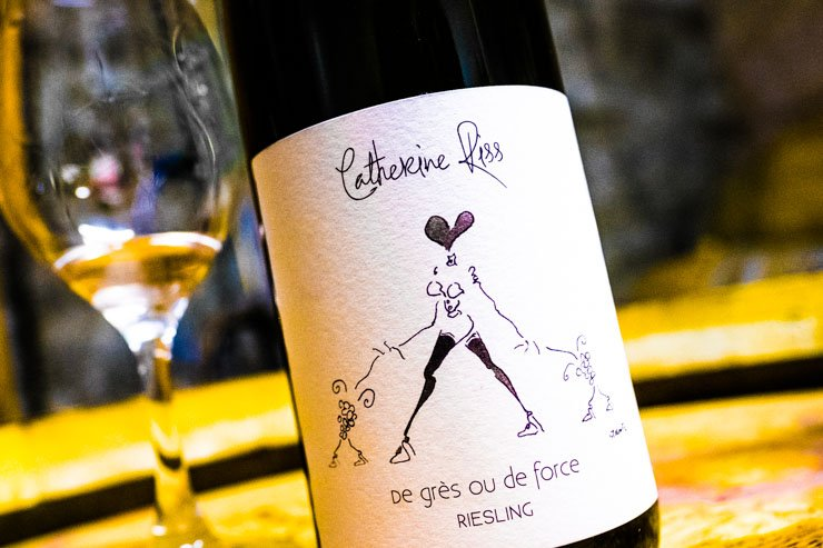 Label of De Gres ou De Force Riesling Catherine Riss