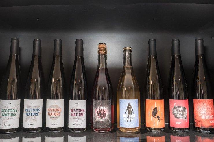 Line of bottles of Kumpf et Meyer's 2014 cuvees