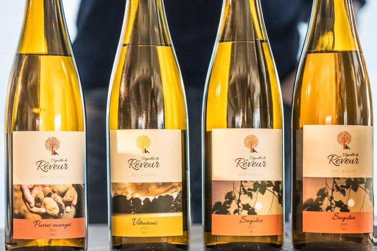 3 cuvees of Vignoble du reveur