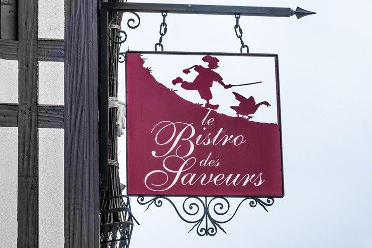Sign of Bistro des Saveurs, Obernai, Alsace