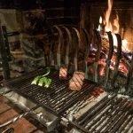 Cooking on the grill, Le Bistro des Saveurs, Obernai, Alsace