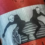 Wine label of Pinot noir from Rieffel