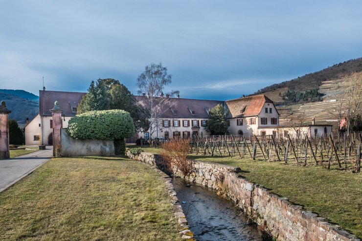 Exterior of Domaine Weinbach, Kaysersberg, Alsace