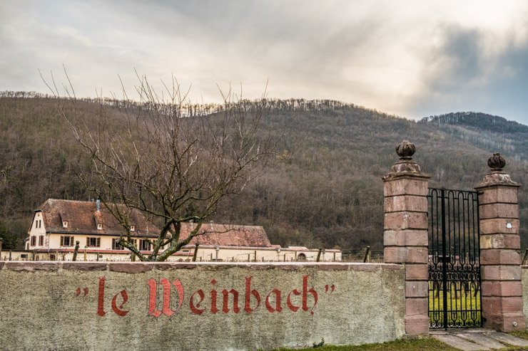 View from the road, Domaine Weinbach, Alsace