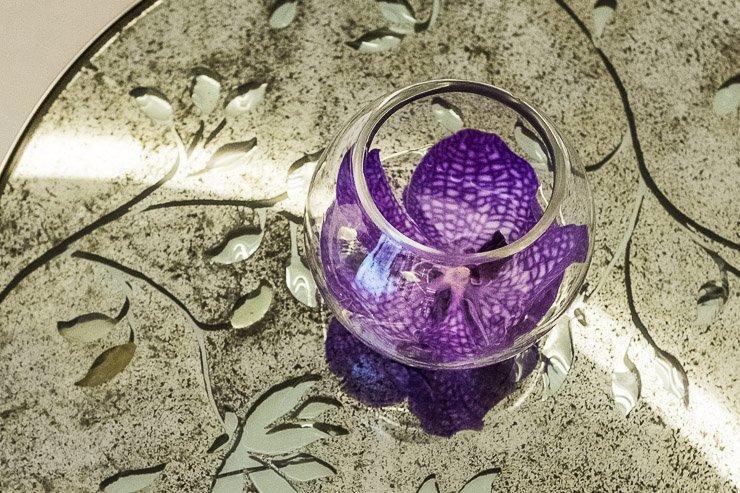 Purple orchid, Corinthia London, spa