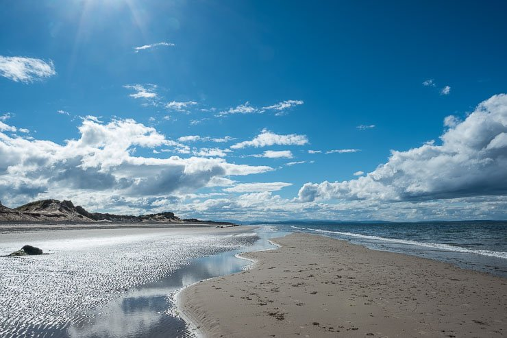 Beach at Findhorn, Moray Firth, Scotland