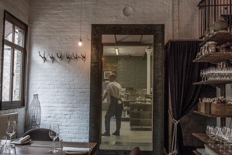 View into the kitchen, Timberyard, Edinburgh