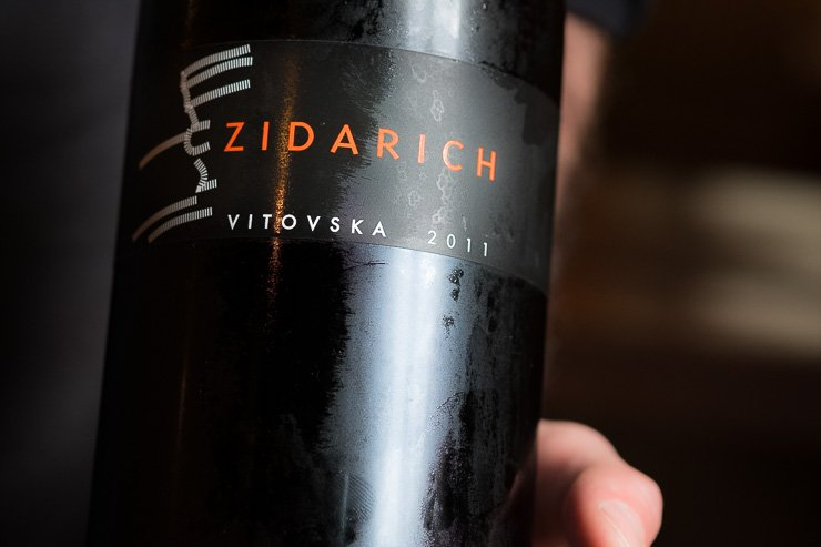 Zidarich wine label, Timberyard, Edinburgh