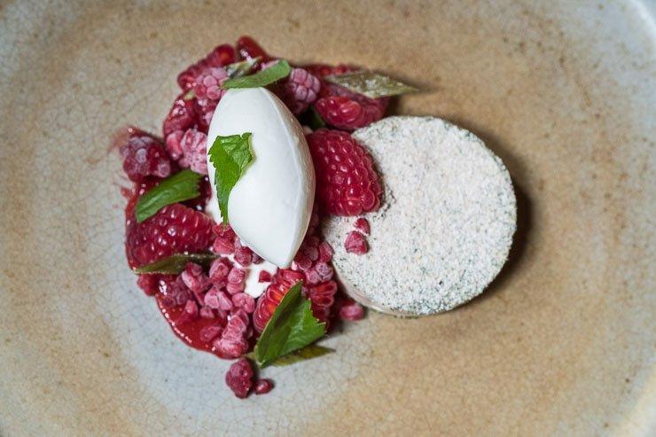 Raspberry, Creme Fraiche, Angelica, Timberyard, Edinburgh