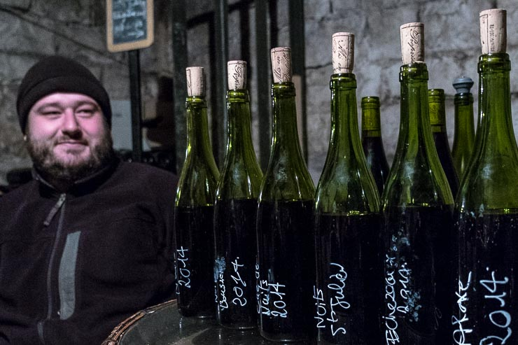 In the cellar with Etienne Julienne at Domaine Julienne