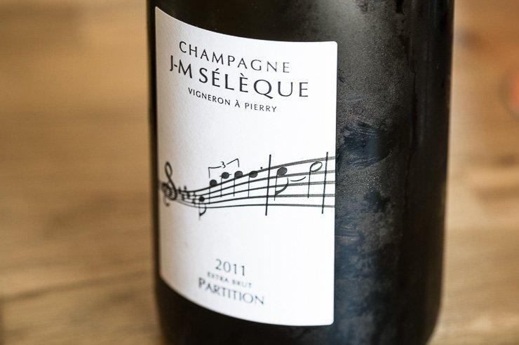 Champagne JM Seleque, Partition