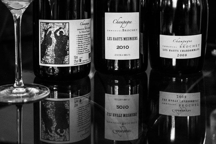 Bottles of Emmanuel Brochet champagne