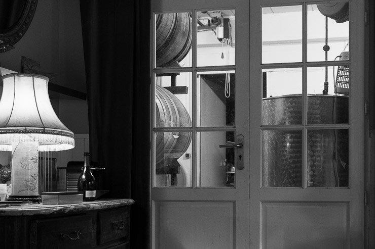 View towards cellar at Emmanuel Brochet