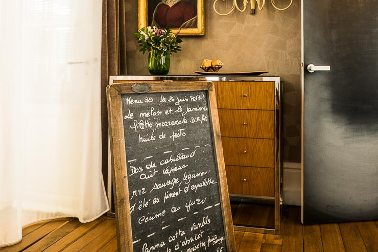 The blackboard menu, Les Avises, Champagne