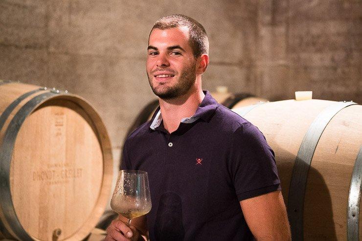 Adrien Dhondt of Champagne Dhondt-Grellet