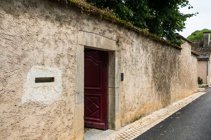 Entrance to La Maison, restaurant, Table d'Hote, Domaine Trapet, Gevry-Chambertin, Burgundy