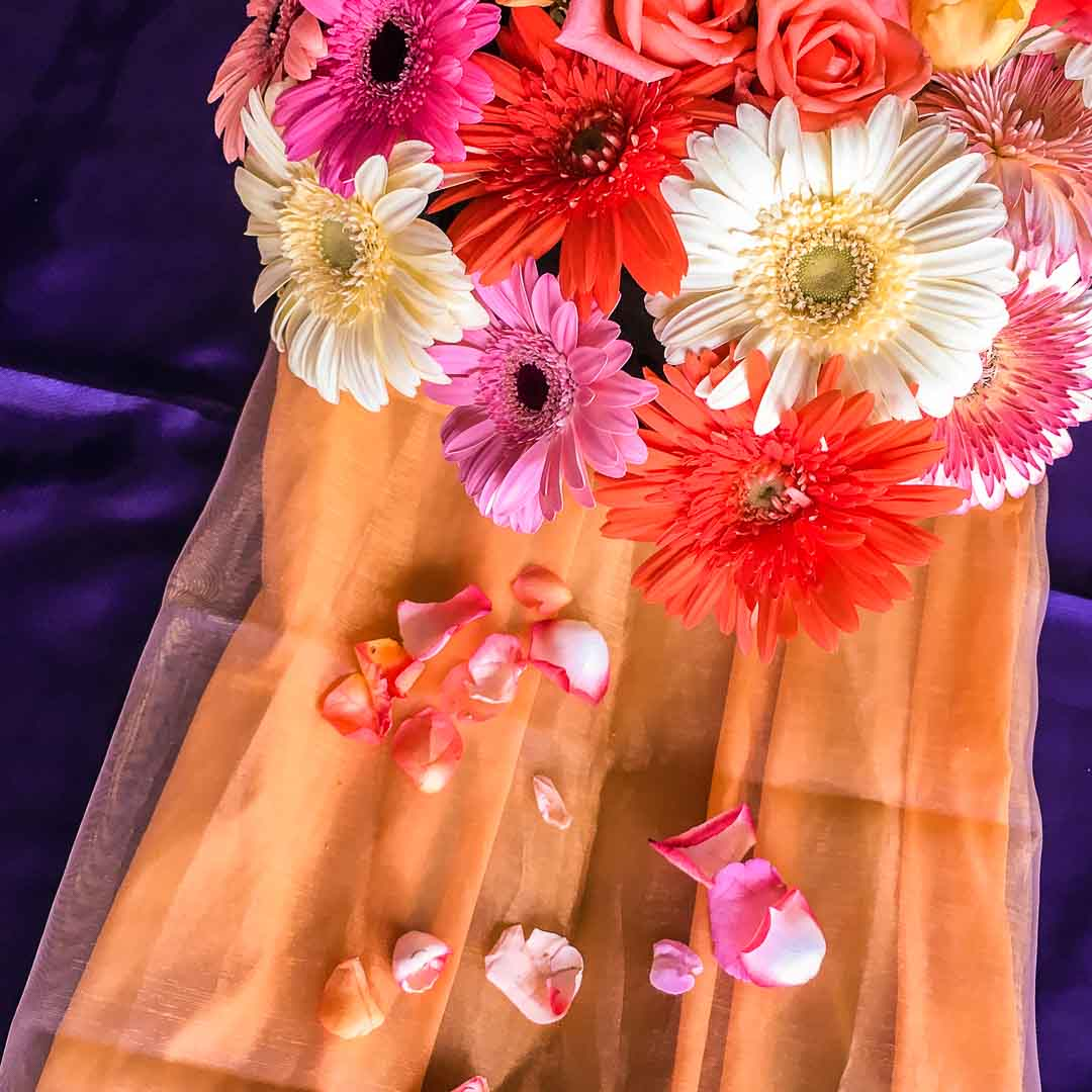 Table decoration, wedding, Mauritius