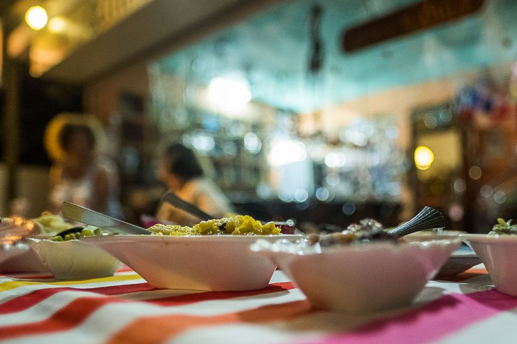 The dishes at Cannes a Sucre, Flic-en-Flac, Mauritius