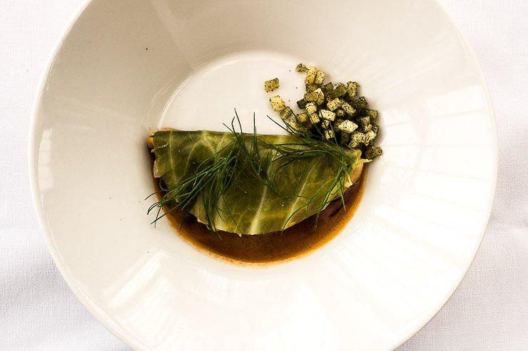 Restaurant De Kas, Amsterdam, braised cabbage