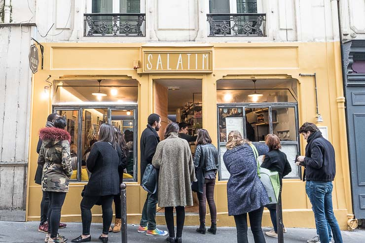 Queue outside Salatim, Paris