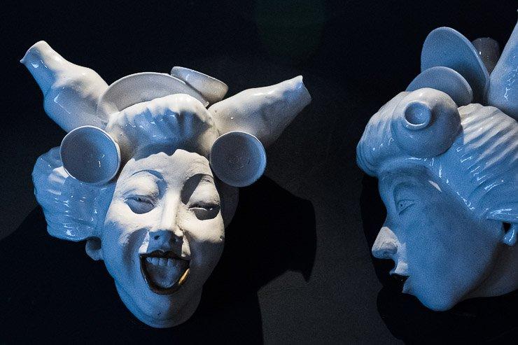 Pottery artwork detail, Garance Restaurant, Paris