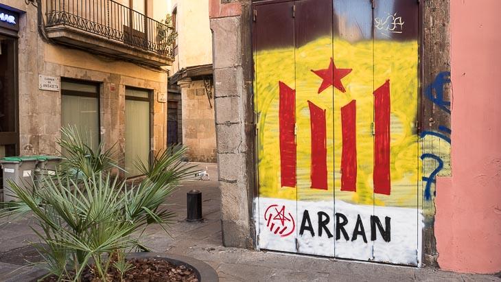 Political graffiti, Placa de Santa Maria, Barcelona