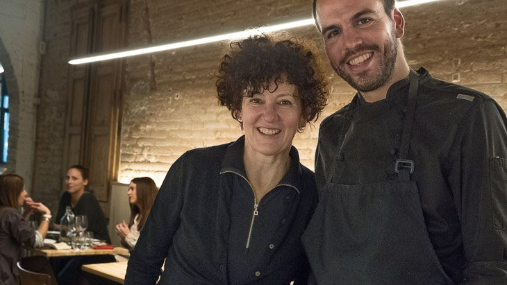 Gina Power with Teoric chef, Oriol Casals