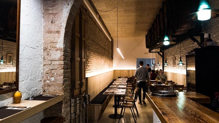 Interior, Teoric Taverna Gastronomica, Barcelona